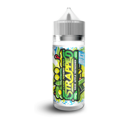 Strapped E-Liquid - Sour Apple Refresher on ICE 100ml 0mg