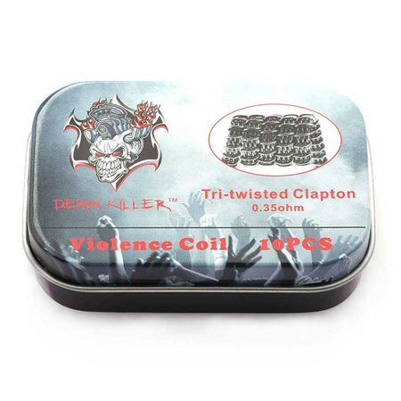 Demon Killer - Twisted Clapton Wire 0,35ohm - 10 Stück
