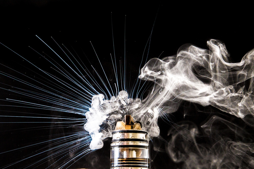 Dampfender Coil einer E-Zigarette